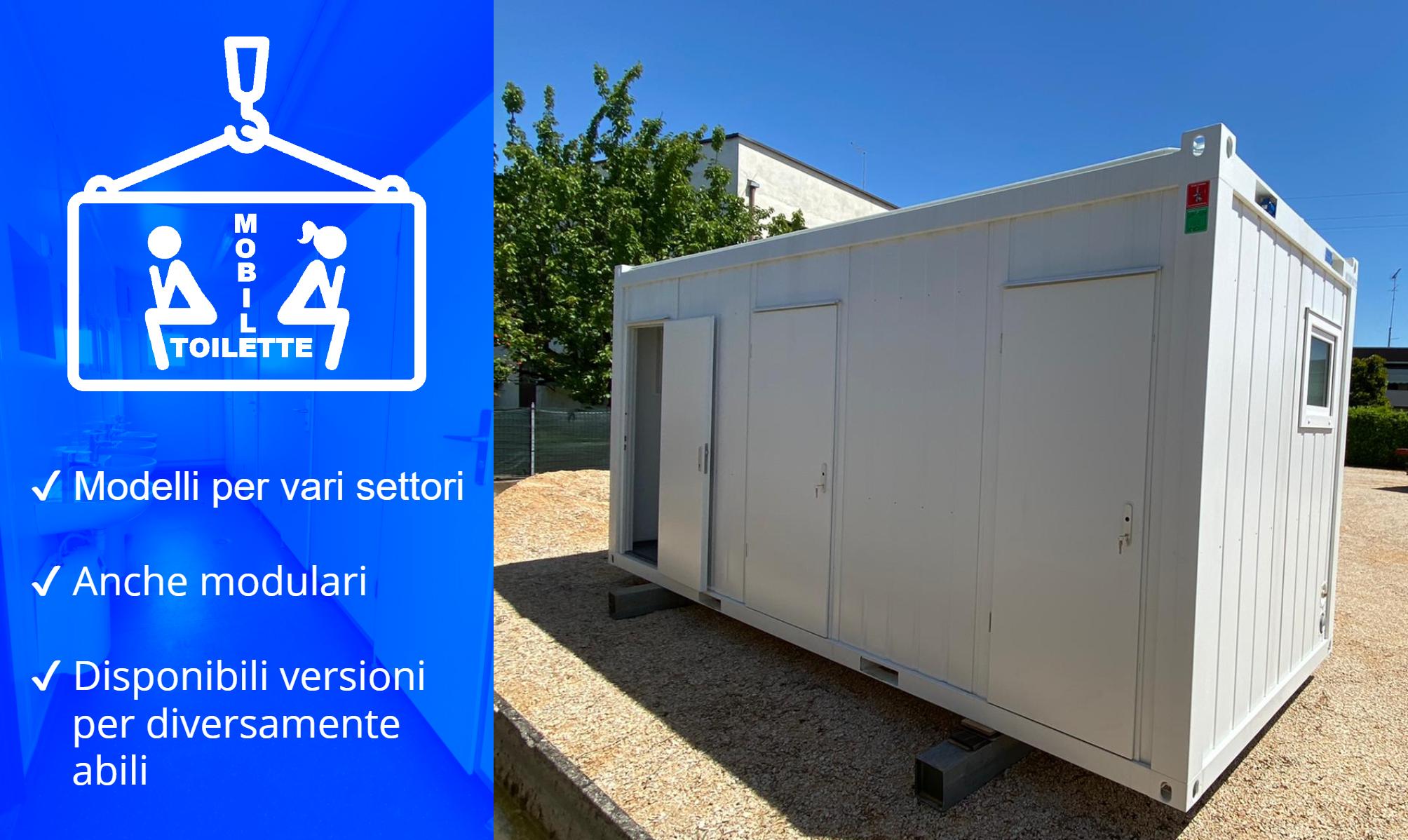 noleggio container wc