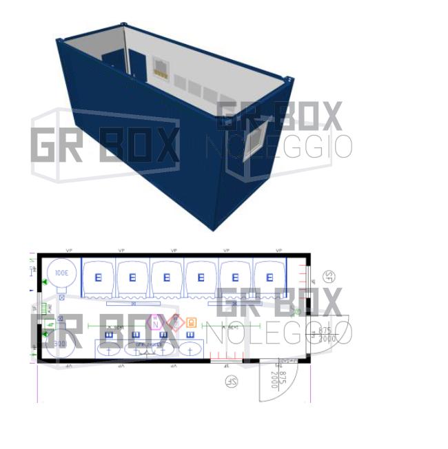 noleggio container docce